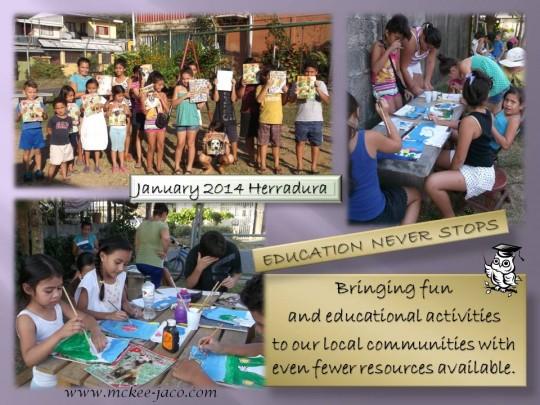 Education never stops - la educación nunca se detiene